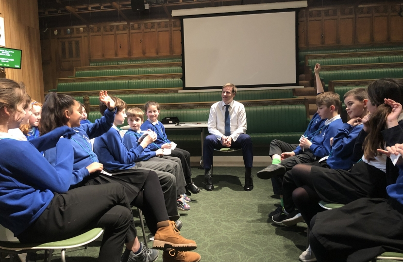 Harestock Primary School in Parliament