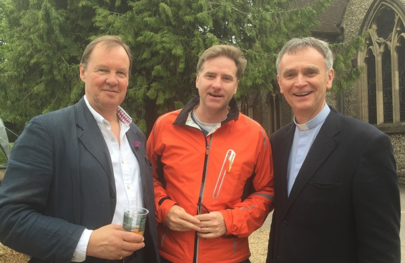 MP Steve Brine with Bill Lucas and Peter Seal