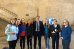 Alresford girl guides in parliament