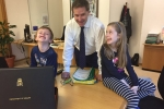 SB DH office with kids